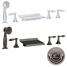 Roman Tub Waterfall Bath Faucet with Handshower