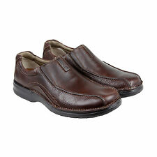 Clarks Pickett Mens Brown Leather Casual Dress Slip On Loafers Shoes