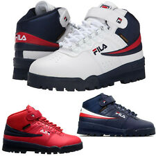 NEW Mens Fila F13 F-13 Mid High Top Weather Tech Sneaker Boots Shoes RED NA