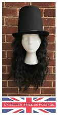 Slash Guns N Roses Wig Top Hat Heavy Metal Rock Rocker Costume Fancy Dress Music