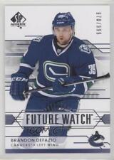 2014-15 SP Authentic 250 Brandon Defazio Vancouver Canucks RC Rookie Hockey Card