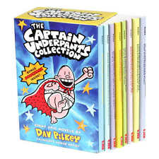 The Captain Underpants Collection: 8 Book Box Set by Dav Pilkey NEW!