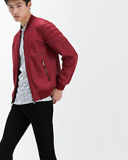 2ed5b3fc ZARA MAN NEW SS 2016 RED RESIN JACKET REF: 0706/438 SIZES: L