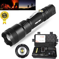 X800 Shadowhawk 6000LM Zoomable XML T6 LED Tactical Flashlight +18650 Battery UK