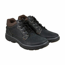 Skechers Resment Chukka Boot Mens Black Leather Casual Dress Boots Shoes