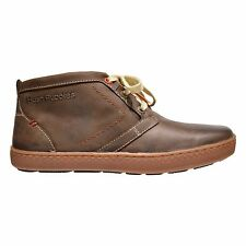 Hush Puppies Gresham Roadcrew Men's Leather Go-To Chukka Boots Brown