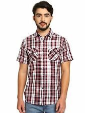 Noble Faith Men's Red color 100% Cotton Full Sleeves Shirt (NF16MSH018)