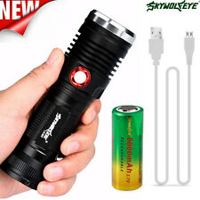 8000LM Zoom CREE XM-L2 U2 LED USB Rechargeable Flashlight Torch + 26650 Battery