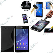 Cover Custodia TPU Silicone Gel Sony Xperia Z3 Compact D5803 + 2 Film