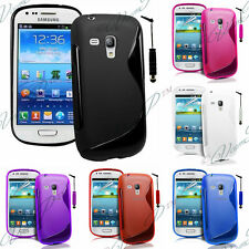 Funda TPU silicona GEL Flexible S Ola Samsung Galaxy S3 mini i8190 + Lámina