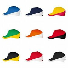 SOLS Unisex Adults Booster Two Tone Baseball Cap