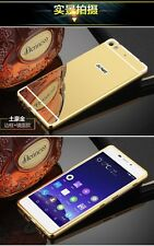 Mirror Back Cover + Aluminum Metal Frame Bumper Case For Gionee S7
