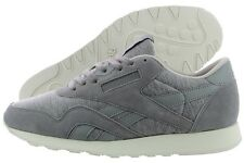 Reebok Classic Nylon Jersey AR0897 Flat Grey Sand Storm Suede Casual Shoes