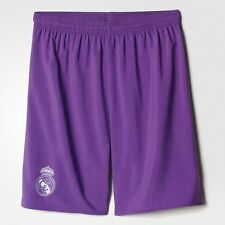 Adidas 2016/2017 Real Madrid Junior Boys Kids Away Football Kit Shorts - Purple
