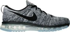 Men's Nike Flyknit Air Max Running Shoes White/Black 620469 105