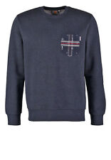 Felpa girocollo uomo CARHARTT mod.EATON POCKET SWEAT navy heather / ethnic print