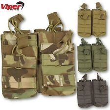 VIPER DOUBLE DUO MAG POUCH MOLLE AIRSOFT MAGAZINE ARMY WEBBING SHOOTING UTILITY
