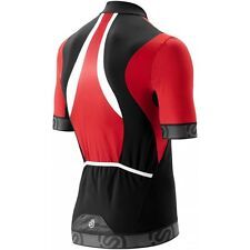 SKINS TREMOLO SHORT SLEEVE COMPRESSION CYCLING TOP - Mens - Red/Black/White