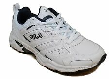 Men's Fila® Capture White/Navy Running  Shoes Medium Width Size