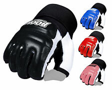 BOOM Prime Boxing Leather Body Combat Gel Gloves MMA Martial Arts Punch Bag UFC