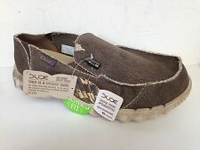 HEY DUDE CLASSIC FARTY LIGHTWEIGHT CANVAS MOCCASIN CHOCOLATE