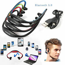 New STEREO Wireless Bluetooth Headset Headphones Sports for iPhone / Samsung