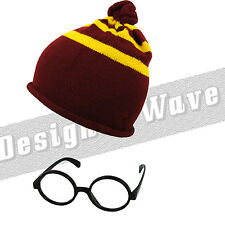 Potter mago CAPPELLO OCCHIALI HARRY Burgundy GIALLO FILM GRIFONDORO