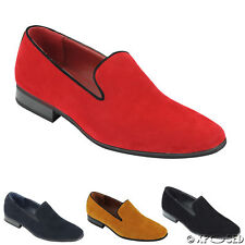 New Mens Suede Loafers Leather Smart Casual MOD Slip on Driving Shoes UK Size