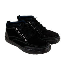 Skechers Porter Repton Mens Black Leather Casual Dress Lace Up Oxfords Shoe