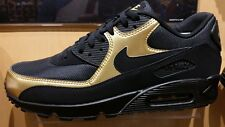 Men's Nike Air Max 90 Essential Running Shoes - Black/Metallic Gold