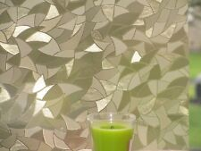 Gold Crystals, Etched Glass Frosted Decorative Static Vinyl Privacy Window Film