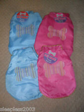 Dog Chihuahua Puppy Waterproof Pet Coat Harness D Ring Blue Pink Bone XS S M