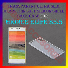 ACM-ULTRA SLIM 0.3MM FULL TRANSPARENT SILICON for GIONEE ELIFE S5.5 BACK COVER
