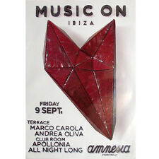 OFFICIAL Music On Marco Carola Amnesia Andrea Oliva 9th September 2016 Poster