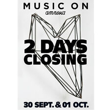 OFFICIAL Music On Marco Carola Amnesia 2 days Closing Party 2016 Poster