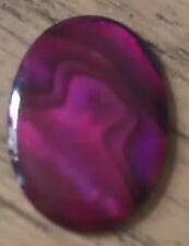 PURPLE COLOURED ABALONE SHELL CABOCHON 9 DIFFERENT SIZES from 6mm to 40mm x 30mm