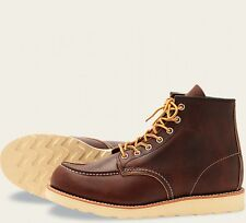 Red Wing  Mens Boots 8138 Moc Toe Heritage Work Briar Oil Slick -Brown