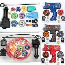 Beyblade Metal Masters Fusion Rip Cord Launcher Beyblades Battle Set Kids Gift