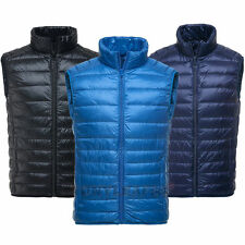 Mens Duck Down Vests Puffer Ultra Light Winter Vest Sleeveless Waistcoat Gilet