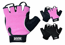 Pink Ladies Weight Lifting Gym Gloves Gel Padded Fitness Training Workout Women
