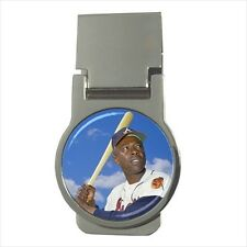 Hank Aaron Baseball Money Clip w/ Optional CZ Crystals