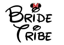 Disney Bride Tribe hen party Iron on T Shirt heat Transfer diy minnie mouse