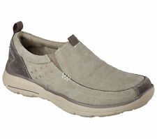 New Mens Skechers Relaxed Fit Glides Benideck Shoes Style 64507 Khaki 112L