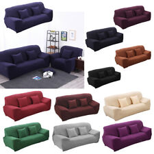 Easy Fit Stretch Elastic Sofa Cover Slipcover Settee Couch Slip Over-1/2/3 Seat