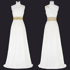 Women Evening Cocktail Bridesmaid Prom Gown Formal Party Lace Long Wedding Dress