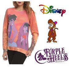 Disney Aladdin Jasmin Street Rat Orange Pull Over Jumper XS UK 6-8