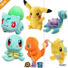 4PCS Pokemon Jouet Peluche Pikachu Bulbizarre Carapuce Charmander Action Set