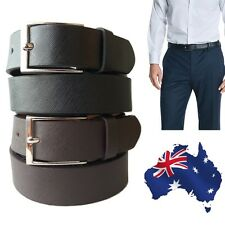Premium Quality Genuine Leather Formal Wedding Suit Belt Black & Brown RRP$49.99