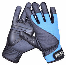 BOOM Prime Mens Winter Motorbike Leather Motorcycle Gloves Windproof Racing