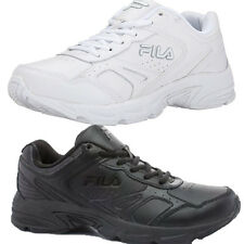 Mens Fila Workplace Work School Uniform All Black or White Athletic Shoes N